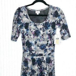 LuLaRoe Nicole Floral Fitted Dress